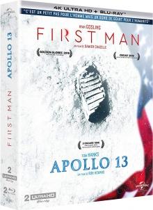 First Man + Apollo 13 - Packshot Blu-ray 4K Ultra HD