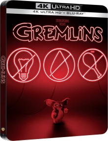 Gremlins (1984) de Joe Dante - Édition boîtier SteelBook - Packshot Blu-ray 4K Ultra HD