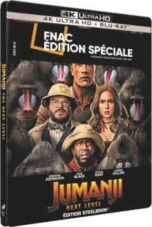 Jumanji : Next Level (2019) de Jake Kasdan - Steelbook Édition Spéciale Fnac - Packshot Blu-ray 4K Ultra HD