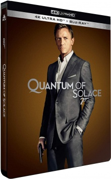 Quantum of Solace (2008) de Marc Forster - Édition Limitée SteelBook – Packshot Blu-ray 4K Ultra HD