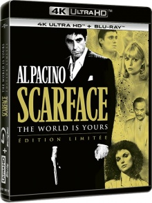 Scarface (1983) de Brian De Palma - Packshot Blu-ray 4K Ultra HD