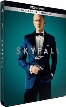 Skyfall (2012) de Sam Mendes - Édition Limitée SteelBook – Packshot Blu-ray 4K Ultra HD