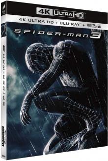Spider-Man 3 (2007), par Sam Raimi - Packshot Blu-ray 4K Ultra HD