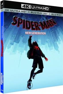 Spider-Man: la nouvelle génération (2018) de Bob Persichetti, Peter Ramsey et Rodney Rothman - Packshot Blu-ray Ultra HD 4K