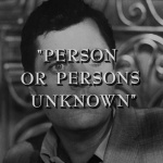 The Twilight Zone - S3 : Personne inconnue