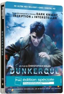 Dunkerque (2017) de Christopher Nolan – Steelbook Édition Spéciale Fnac – Packshot Blu-ray 4K Ultra HD