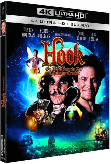 Hook ou la revanche du Capitaine Crochet (1991) de Steven Spielberg – Packshot Blu-ray 4K Ultra HD