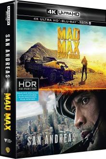 Mad Max : Fury Road + San Andreas – Packshot Blu-ray 4K Ultra HD