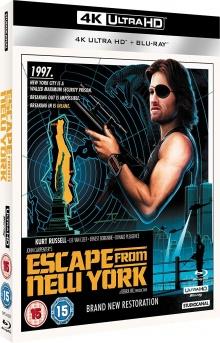New York 1997 (1981) de John Carpenter - Packshot Blu-ray 4K Ultra HD