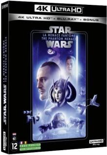 Star Wars, épisode I - La Menace fantôme (1999) de George Lucas – Packshot Blu-ray 4K Ultra HD