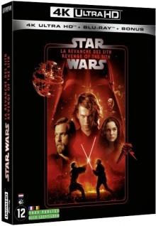 Star Wars, épisode III - La Revanche des Sith (2005) de George Lucas – Packshot Blu-ray 4K Ultra HD