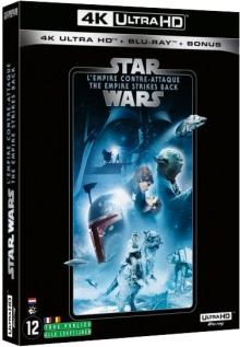 Star Wars, épisode V : L'Empire contre-attaque (1980) de Irvin Kershner – Packshot Blu-ray 4K Ultra HD
