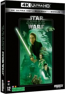Star Wars, épisode VI : Le Retour du Jedi (1983) de Richard Marquand – Packshot Blu-ray 4K Ultra HD