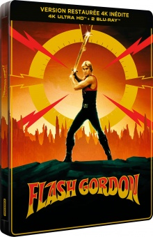 Flash Gordon (1980) de Mike Hodges - Édition 40ème Anniversaire - Steelbook – Packshot Blu-ray 4K Ultra HD