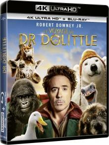 Le Voyage du Dr Dolittle (2020) de Stephen Gaghan - Packshot Blu-ray 4K Ultra HD