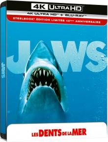 Les Dents de la mer (1975) de Steven Spielberg - Édition 45e anniversaire - Boîtier SteelBook - Packshot Blu-ray 4K Ultra HD