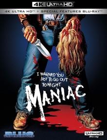 Maniac (1980) de William Lustig - Packshot Blu-ray 4K Ultra HD