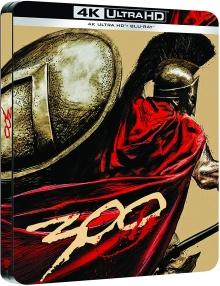 300 (2006) de Zack Snyder - Édition Comic Steelbook - Packshot Blu-ray 4K Ultra HD