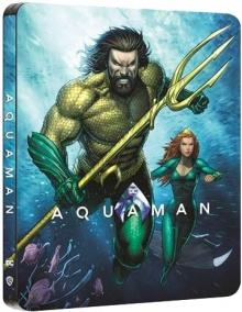 Aquaman (2018) de James Wan - Édition Comic Steelbook - Packshot Blu-ray 4K Ultra HD