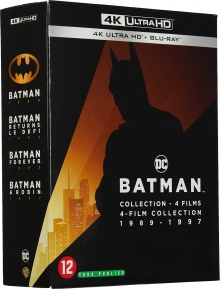 Batman : 4 films collection 1989-1997 – Packshot Blu-ray 4K Ultra HD