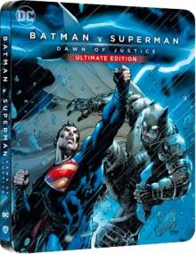 Batman v Superman : L'aube de la justice (2016) de Zack Snyder - Édition Comic Steelbook - Packshot Blu-ray 4K Ultra HD