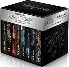 Game of Thrones : Le Trône de Fer - L'intégrale des Saisons 1 à 8 : Coffret métal + Boîtiers SteelBook – Packshot Blu-ray 4K Ultra HD