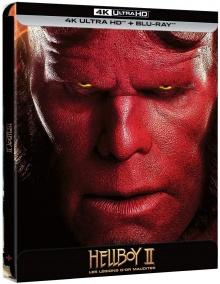 Hellboy II : Les légions d'or maudites (2008) de Guillermo del Toro - Édition Steelbook – Packshot Blu-ray 4K Ultra HD