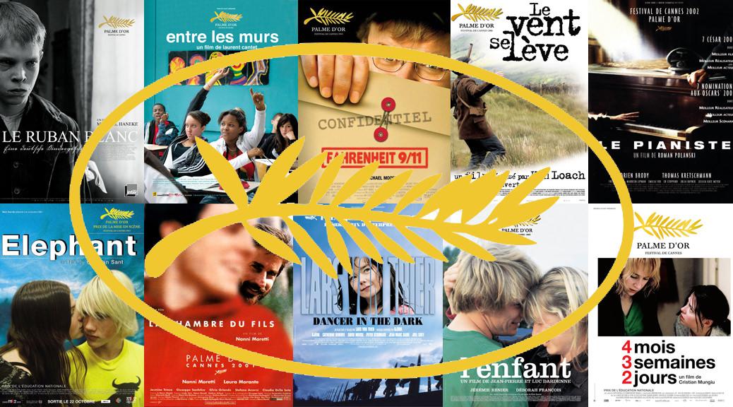 Les Palmes d'or du festival de Cannes - Image une les années 20000