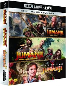 Jumanji Trilogie – Packshot Blu-ray 4K Ultra HD