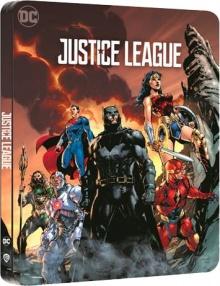 Justice League (2017) de Zack Snyder - Édition Comic Steelbook - Packshot Blu-ray 4K Ultra HD