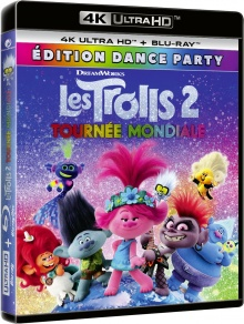 Les Trolls 2 - Tournée mondiale (2020) de Walt Dohrn et David P. Smith – Packshot Blu-ray 4K Ultra HD