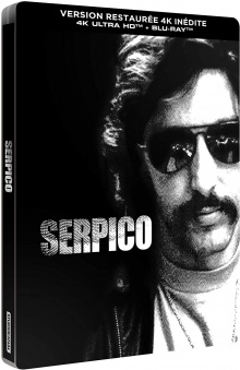 Serpico (1973) de Sidney Lumet - Édition Limitée SteelBook – Packshot Blu-ray 4K Ultra HD