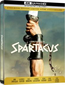 Spartacus – Steelbook Édition Limitée 60ème anniversaire – Packshot Blu-ray 4K Ultra HD