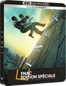 Tenet (2020) de Christopher Nolan - Steelbook Édition Spéciale Fnac – Packshot Blu-ray 4K Ultra HD