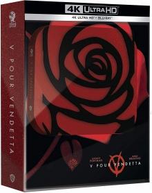V pour Vendetta (2005) de James McTeigue - Édition Titans of Cult - SteelBook – Packshot Blu-ray 4K Ultra HD