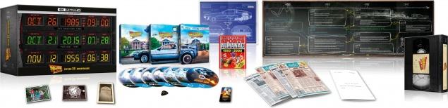 Retour vers le futur : Trilogie – Coffret Circuits Temporels / Cassette VHS – SteelBook – Packshot Blu-ray 4K Ultra HD (Ouvert)