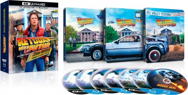 Retour vers le futur : Trilogie – Coffret SteelBook – Packshot Blu-ray 4K Ultra HD (Ouvert)