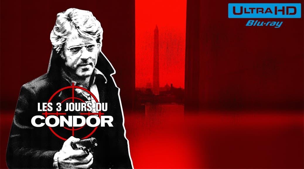 Les 3 jours du condor (1975) de Sydney Pollack - Blu-ray 4K Ultra HD