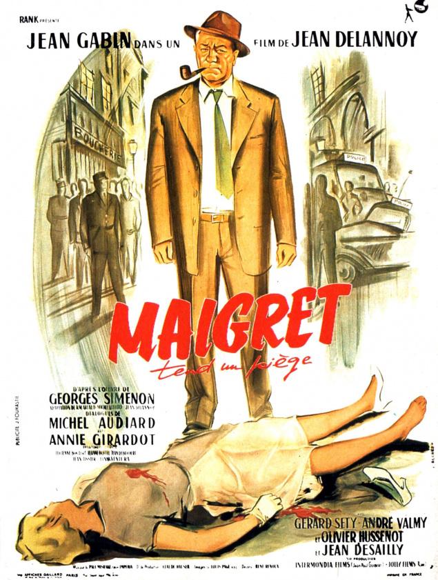 Maigret tend un piège (1958) - Affiche