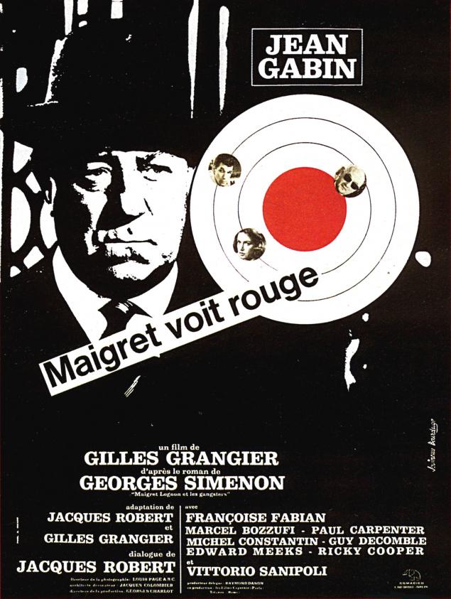 Maigret voit rouge - Affiche